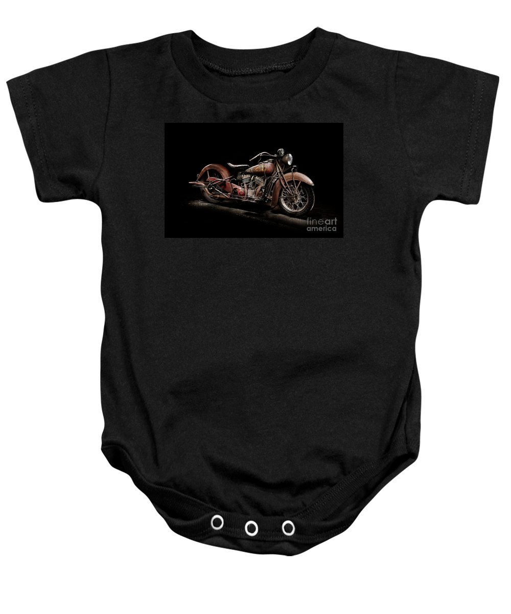 Classic Baby Onesie featuring the photograph 1939 Indian Chief by Frank Kletschkus