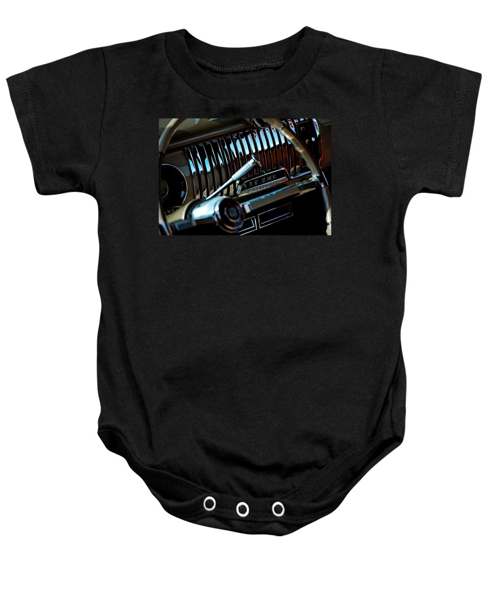 1952 Woody Baby Onesie featuring the photograph 1952 Radio by Robert Meanor