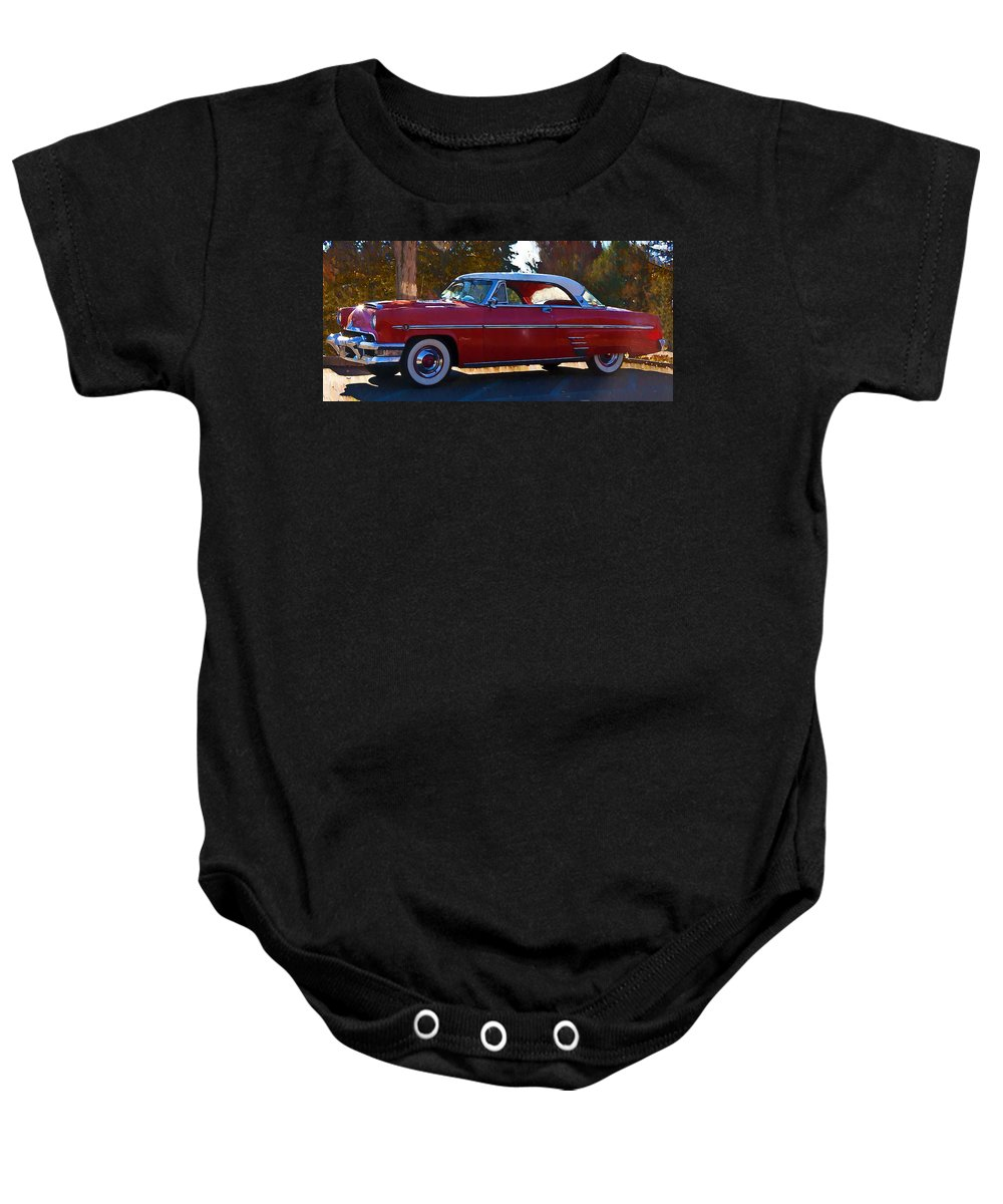 1954 Baby Onesie featuring the photograph 1954 Mercury Monterey by Bill Cannon