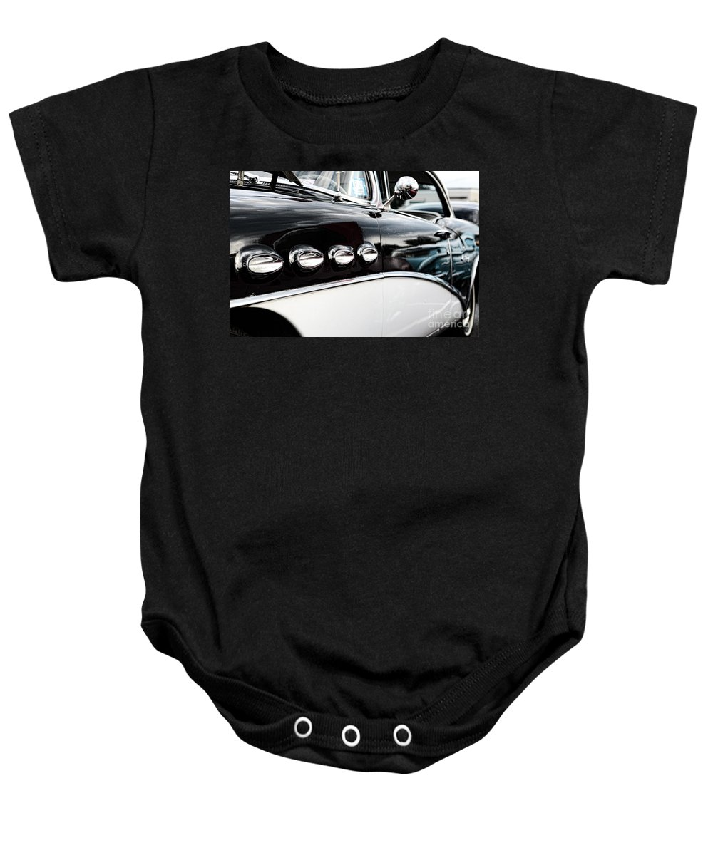 1956 Buick Century Baby Onesie featuring the photograph 1956 Buick Century Profile 1 by Paul Ward