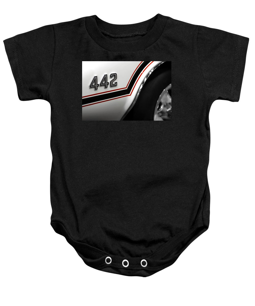 Oldsmobile Baby Onesie featuring the photograph 1970 Olds 442 Indy 500 Pace Car by Gordon Dean II