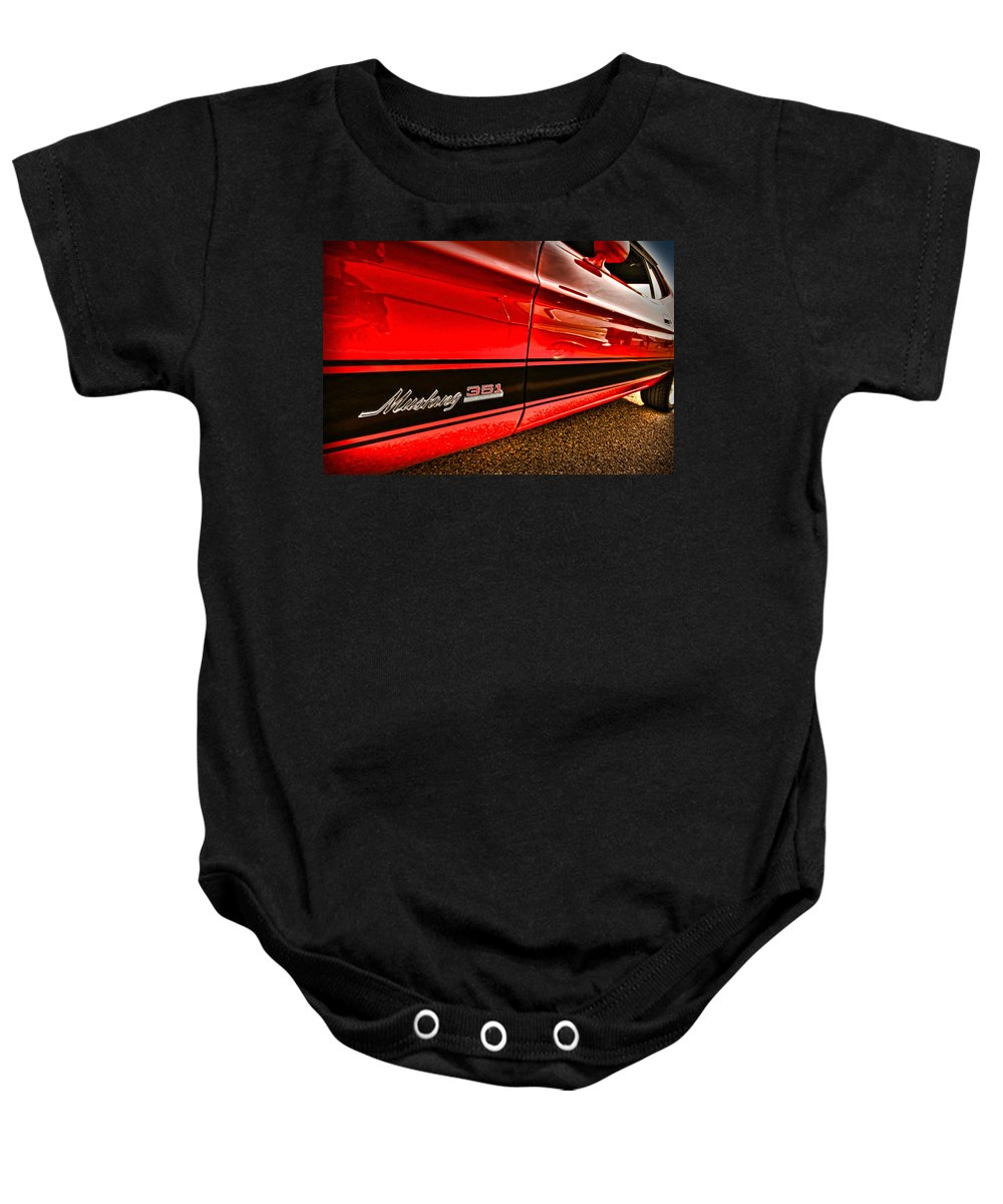 1973 Baby Onesie featuring the photograph 1973 Ford Mustang Mach 1 351 High Performance by Gordon Dean II