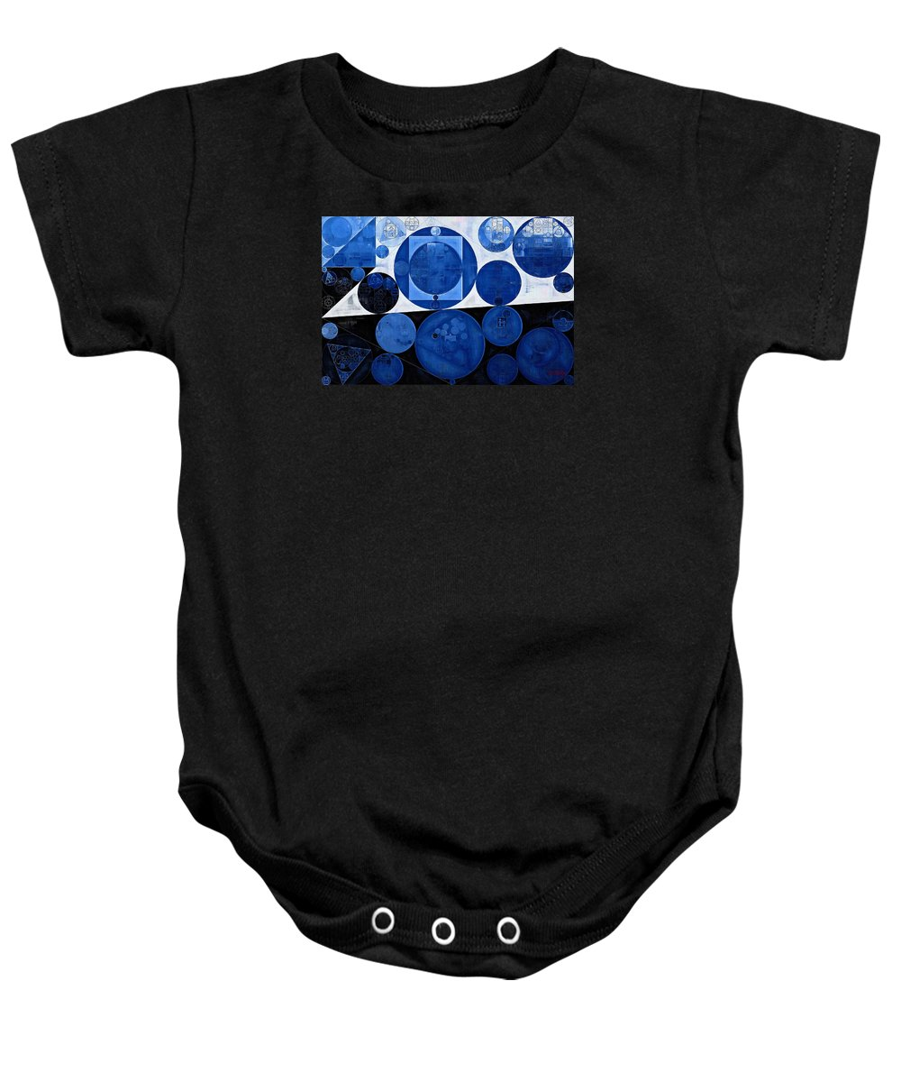 Fantastic Baby Onesie featuring the digital art Abstract Painting - Yale Blue by Vitaliy Gladkiy