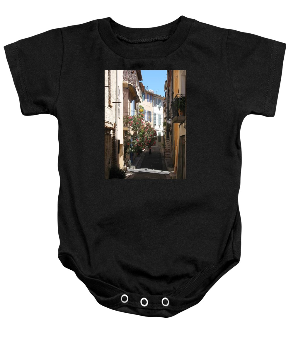 Alley Baby Onesie featuring the photograph Alley - Provence by Christiane Schulze Art And Photography
