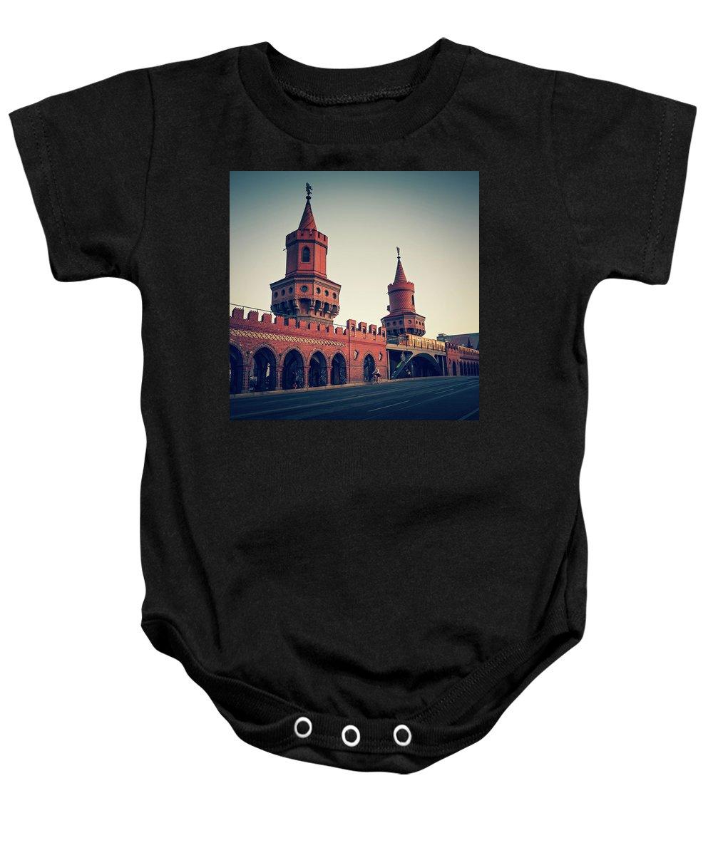 Berlin Baby Onesie featuring the photograph Berlin - Oberbaum Bridge by Alexander Voss