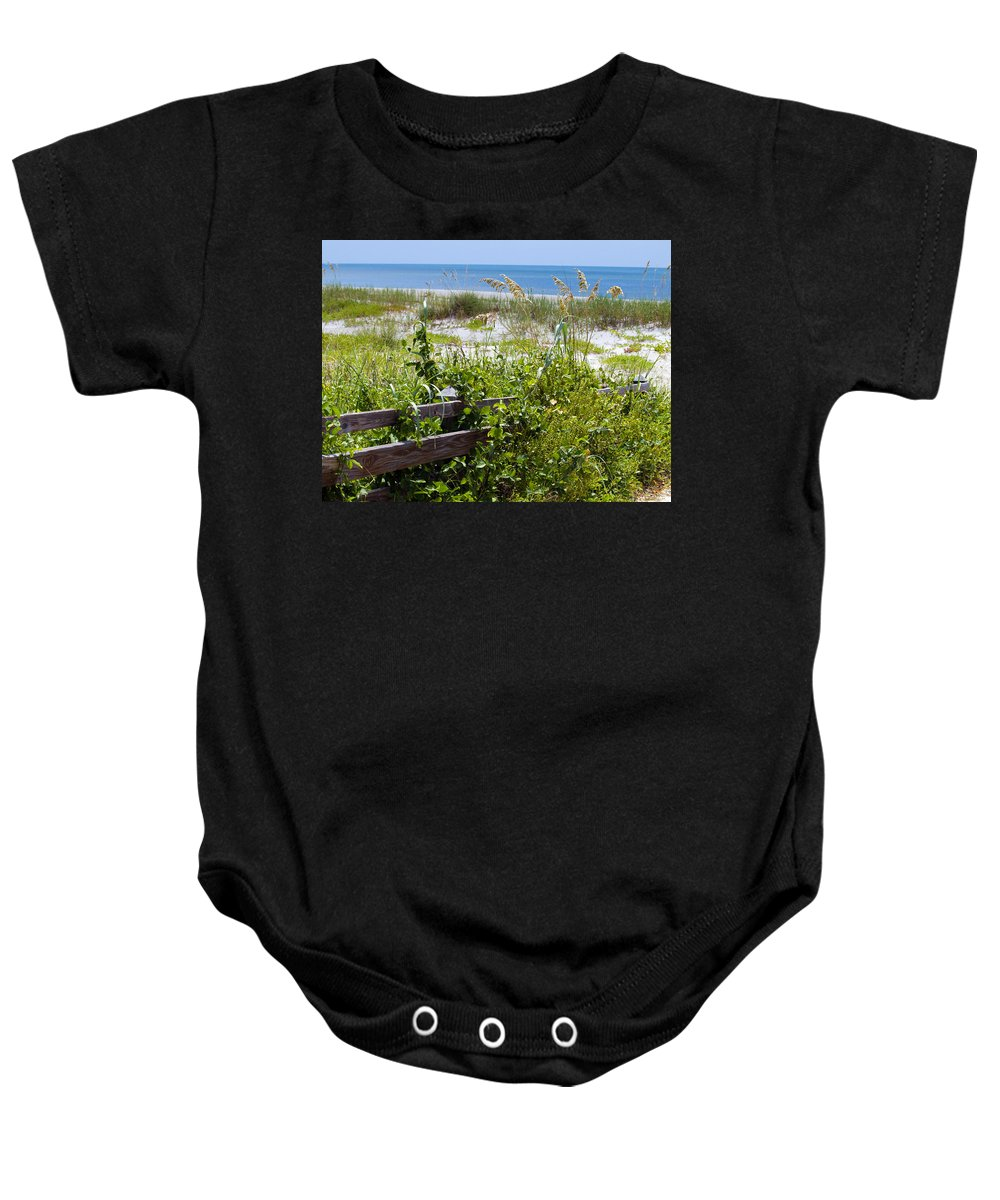 Florida; Beach; Ocean; Waves; Wave; Surf; Sand; Sandy; Coast; Shore; Atlantic; Cape; Canaveral; Scen Baby Onesie featuring the photograph Cape Canaveral Florida by Allan Hughes