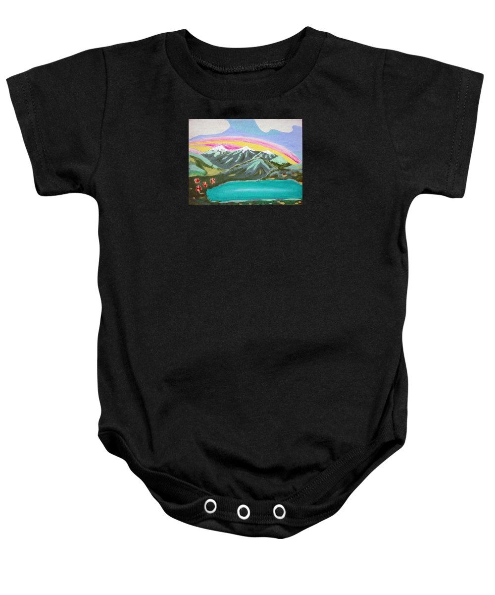 Impressionist Painting Baby Onesie featuring the painting From The Mountains To The Sea by J R Seymour