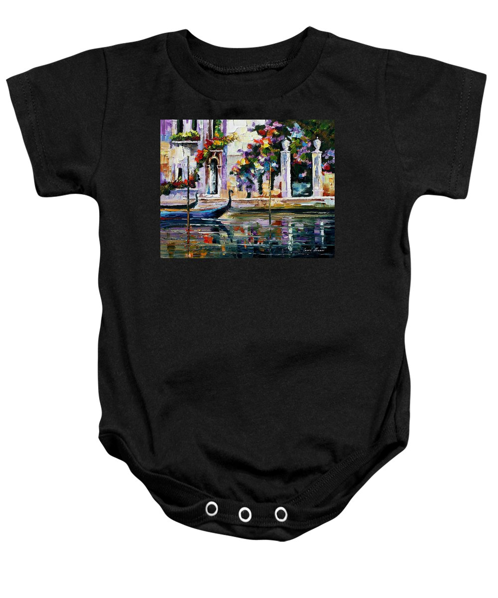 City Baby Onesie featuring the painting Greece by Leonid Afremov