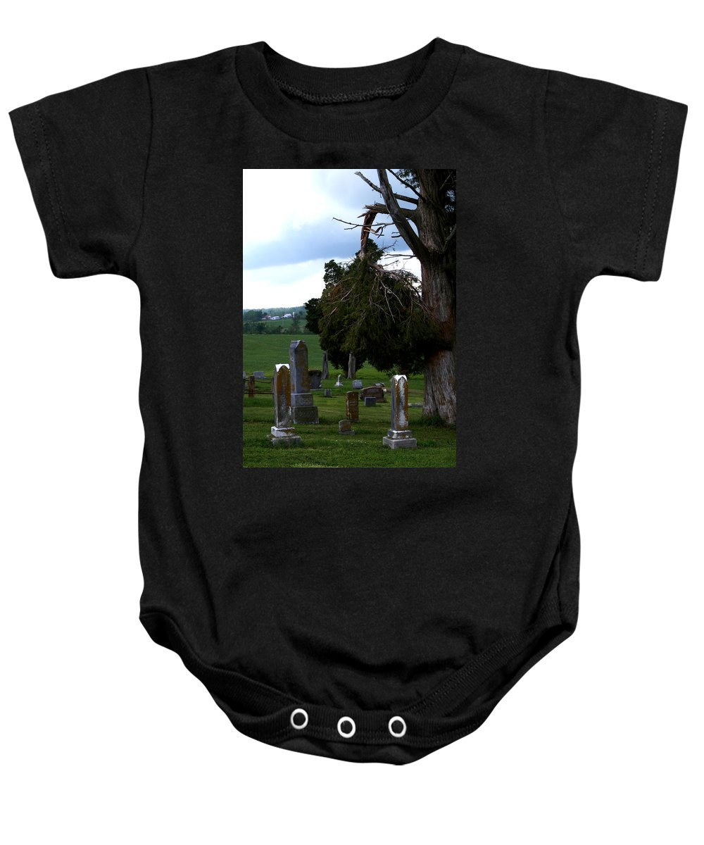 Landscape Baby Onesie featuring the photograph Heroes Of Olmsted by Rachel Christine Nowicki