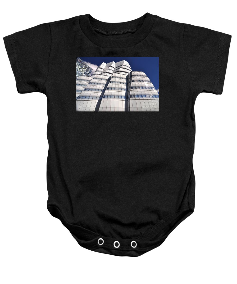 Nyc Baby Onesie featuring the photograph Iac Building by Mark Gilman