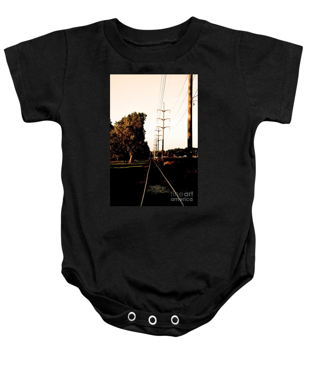 Baby Onesie featuring the photograph In Line by Jamie Lynn