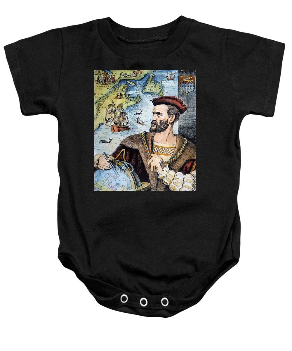 16th Century Baby Onesie featuring the photograph Jacques Cartier (1491-1557) by Granger