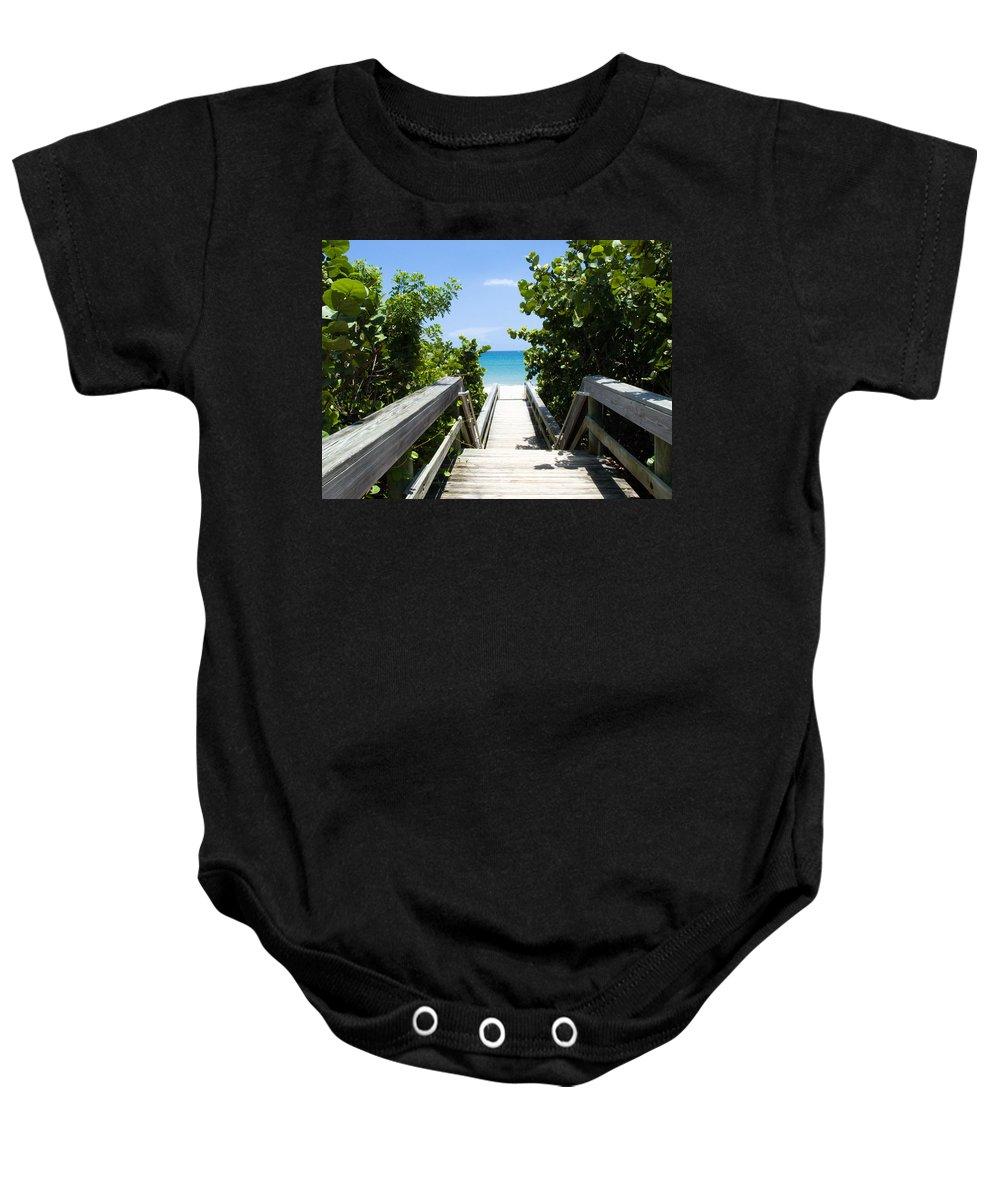 Juno; Florida; Loxahatchee; River; Jupiter; Inlet; Swim; Swimming; Children; Girl; Boy; Woman; Man; Baby Onesie featuring the photograph Juno Beach Florida by Allan Hughes