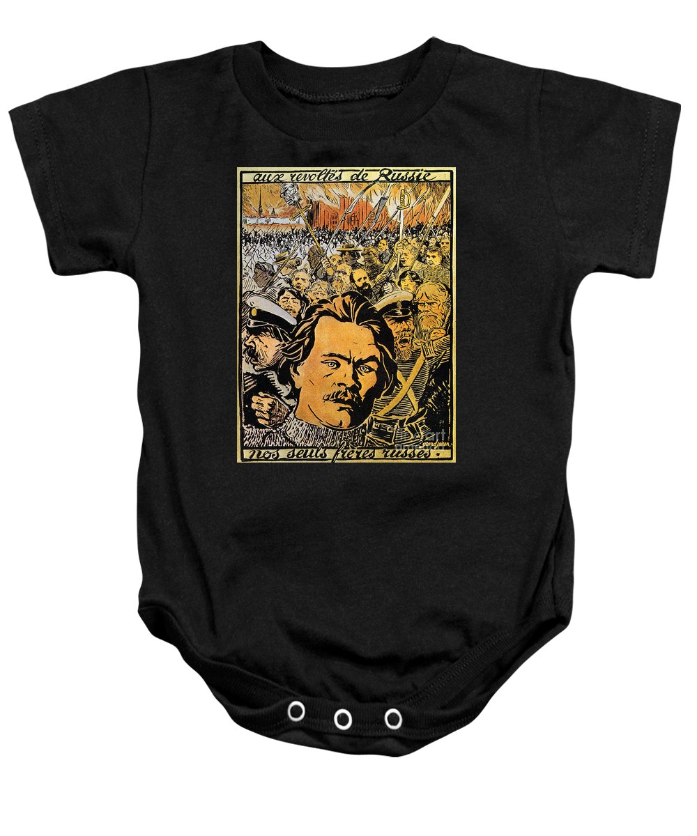 20th Century Baby Onesie featuring the photograph Maxim Gorki (1868-1936) by Granger