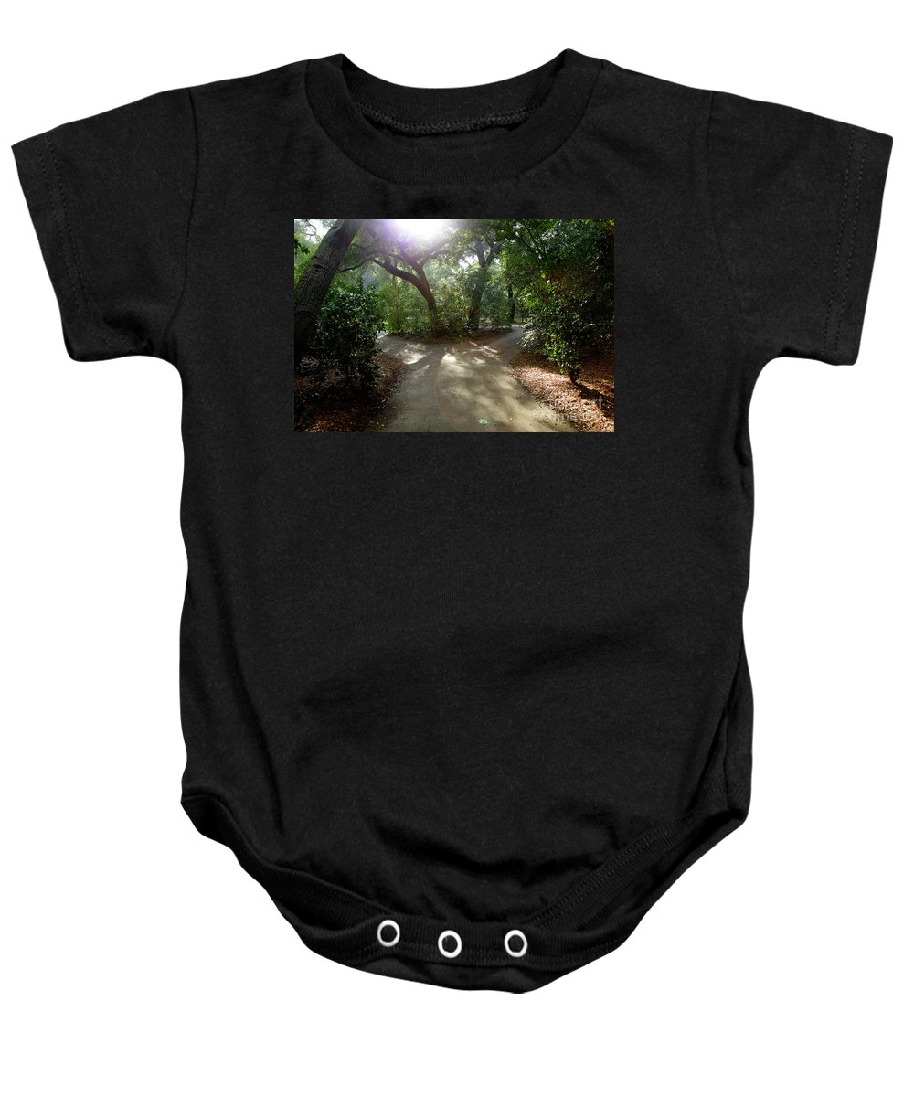 Nature Baby Onesie featuring the photograph 2 Paths by Dean Triolo