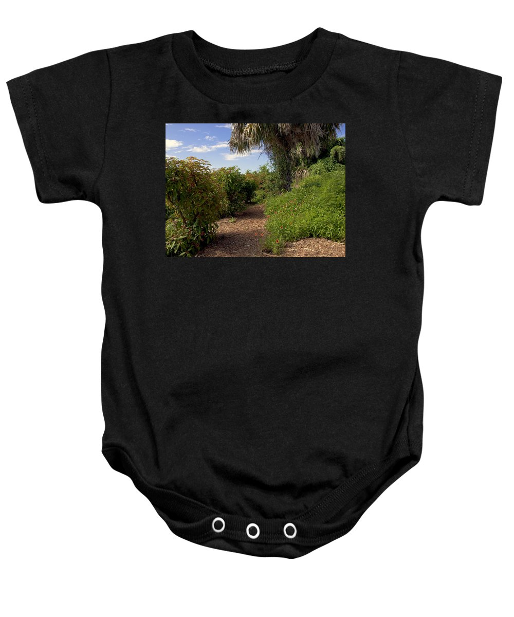 Florida Baby Onesie featuring the photograph Pelican Island In Florida by Allan Hughes