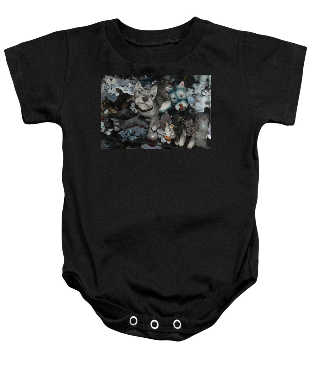 Dogs Baby Onesie featuring the photograph Schnauzers by Rob Hans