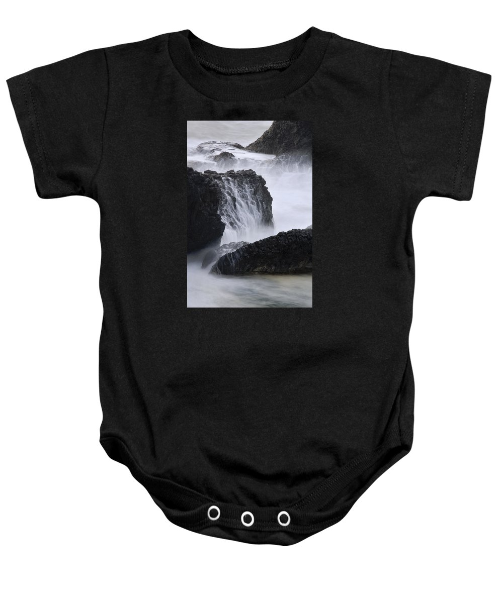 Seal Rock Baby Onesie featuring the photograph Seal Rock Waves And Rocks 4 by Bob Neiman