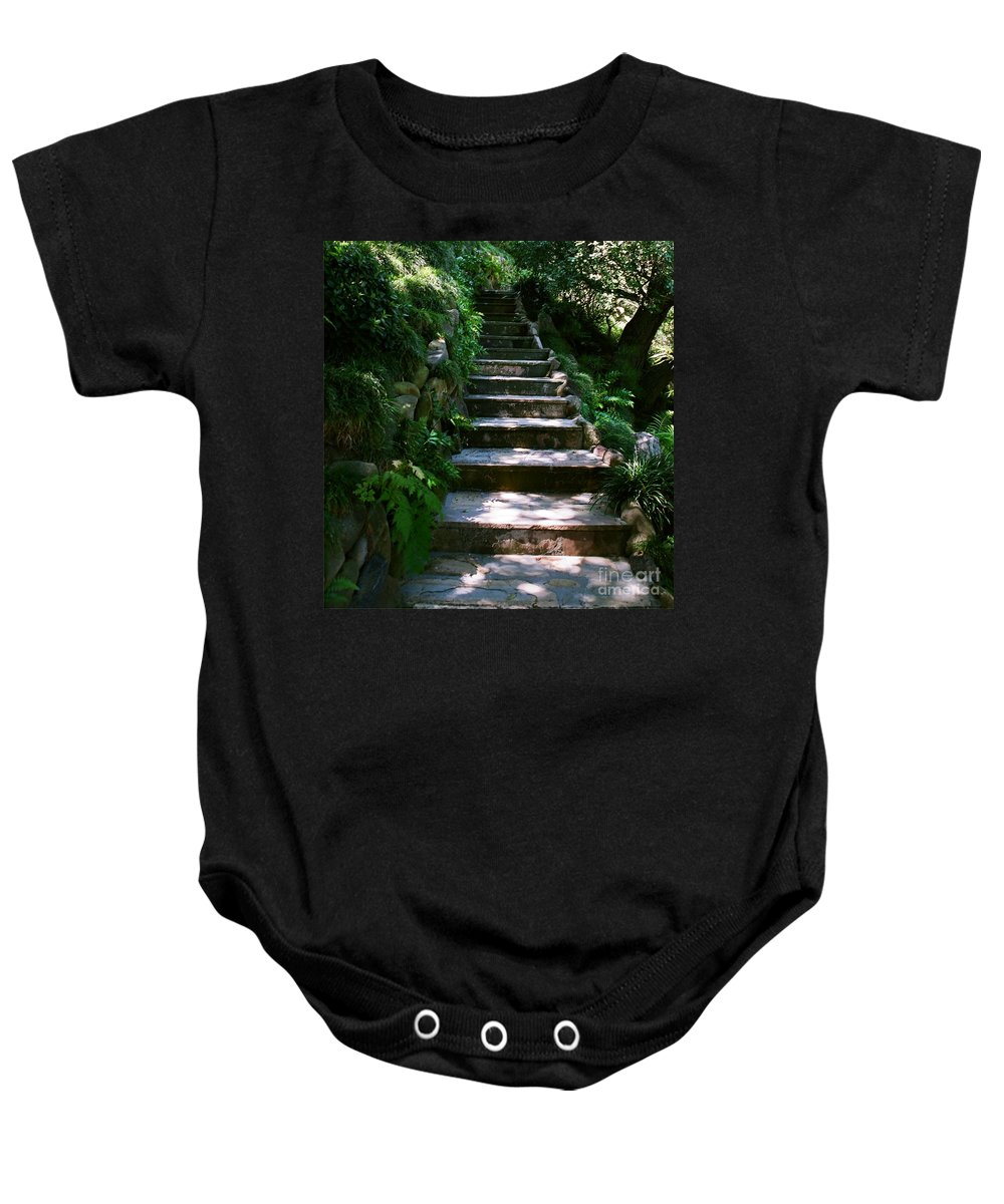Nature Baby Onesie featuring the photograph Stone Steps by Dean Triolo