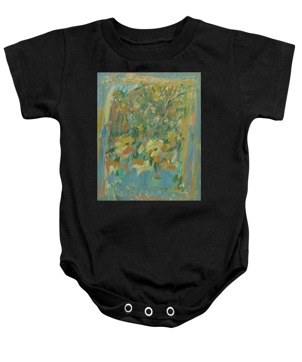 Park Baby Onesie featuring the painting Window by Robert Nizamov