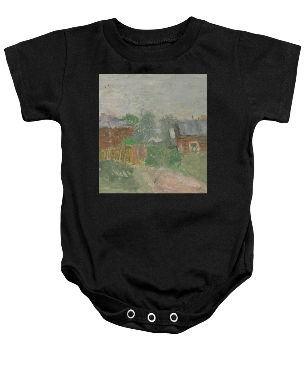 Street Baby Onesie featuring the painting Rostov by Robert Nizamov