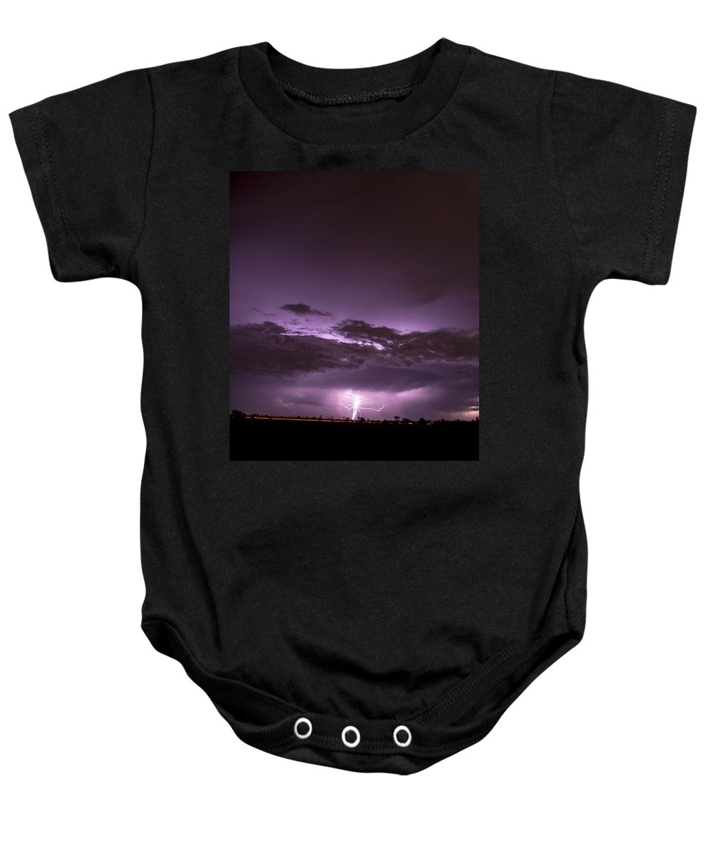 Nebraskasc Baby Onesie featuring the photograph 6th Storm Chase 2015 by NebraskaSC
