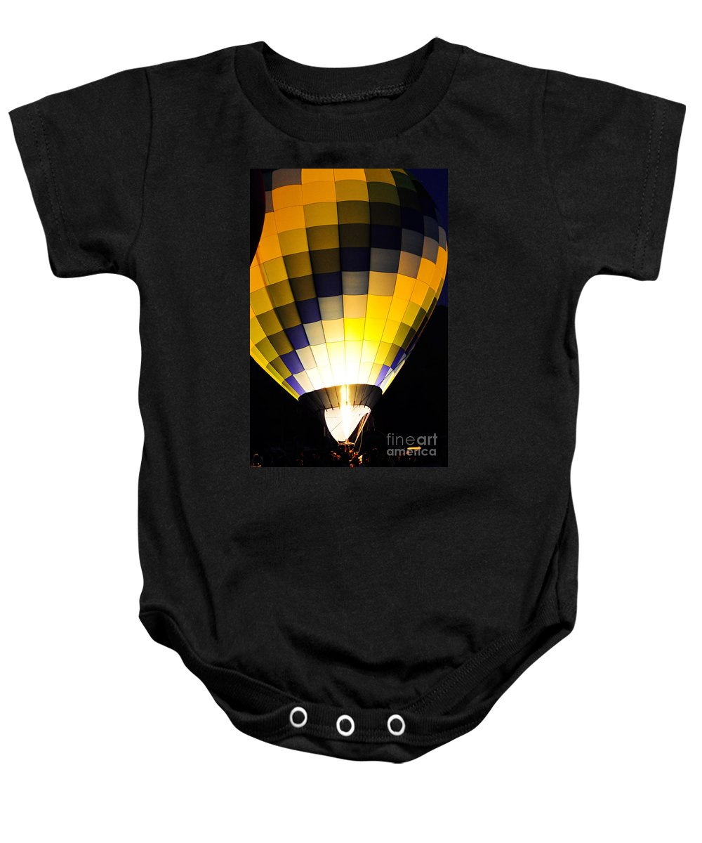 Clay Baby Onesie featuring the photograph Glowing by Clayton Bruster