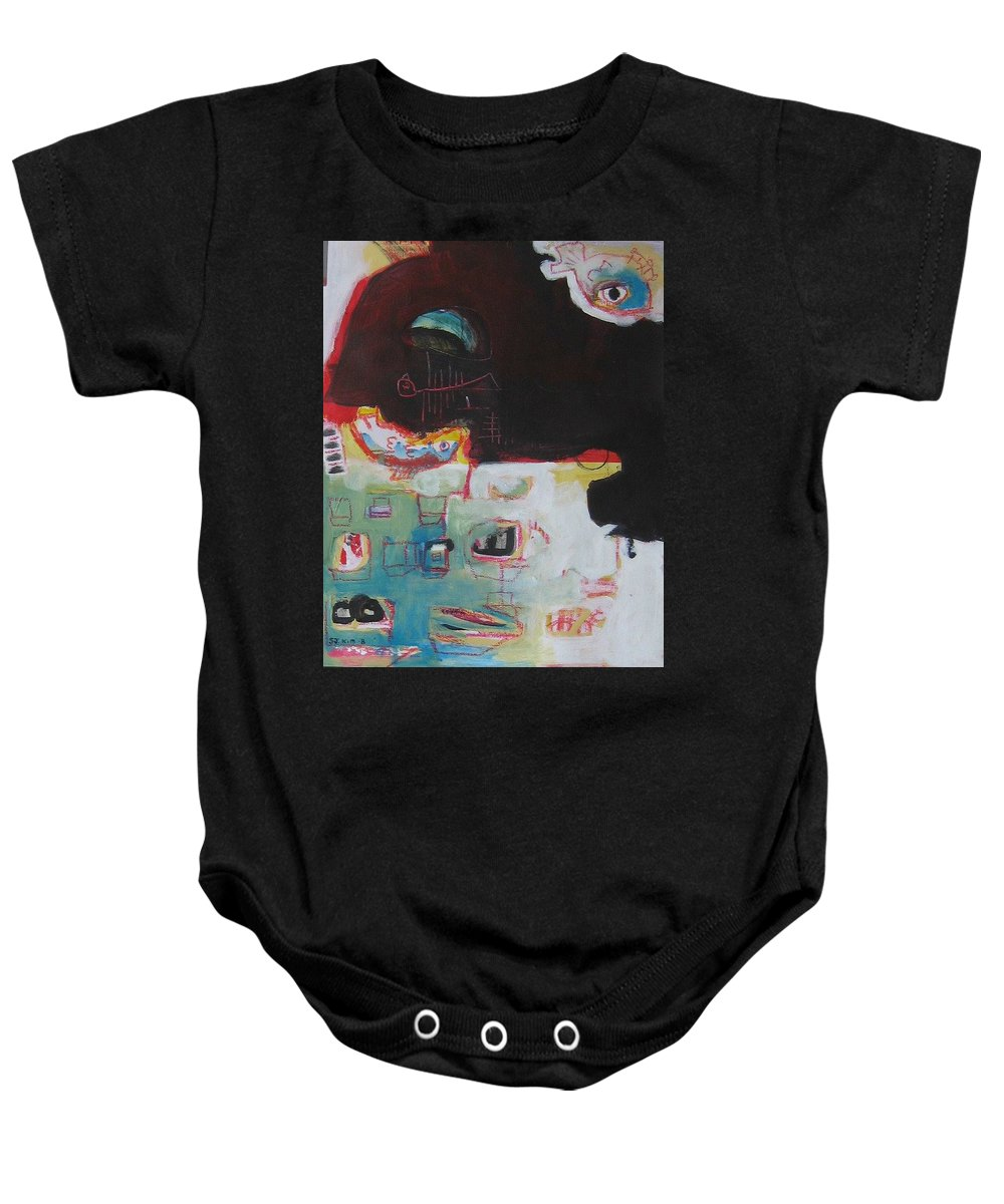 Abstract Paintings Baby Onesie featuring the painting Little Bay by Seon-Jeong Kim