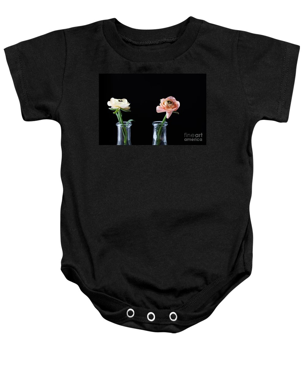 Ranunculus Baby Onesie featuring the photograph Ranunculus by Kati Finell