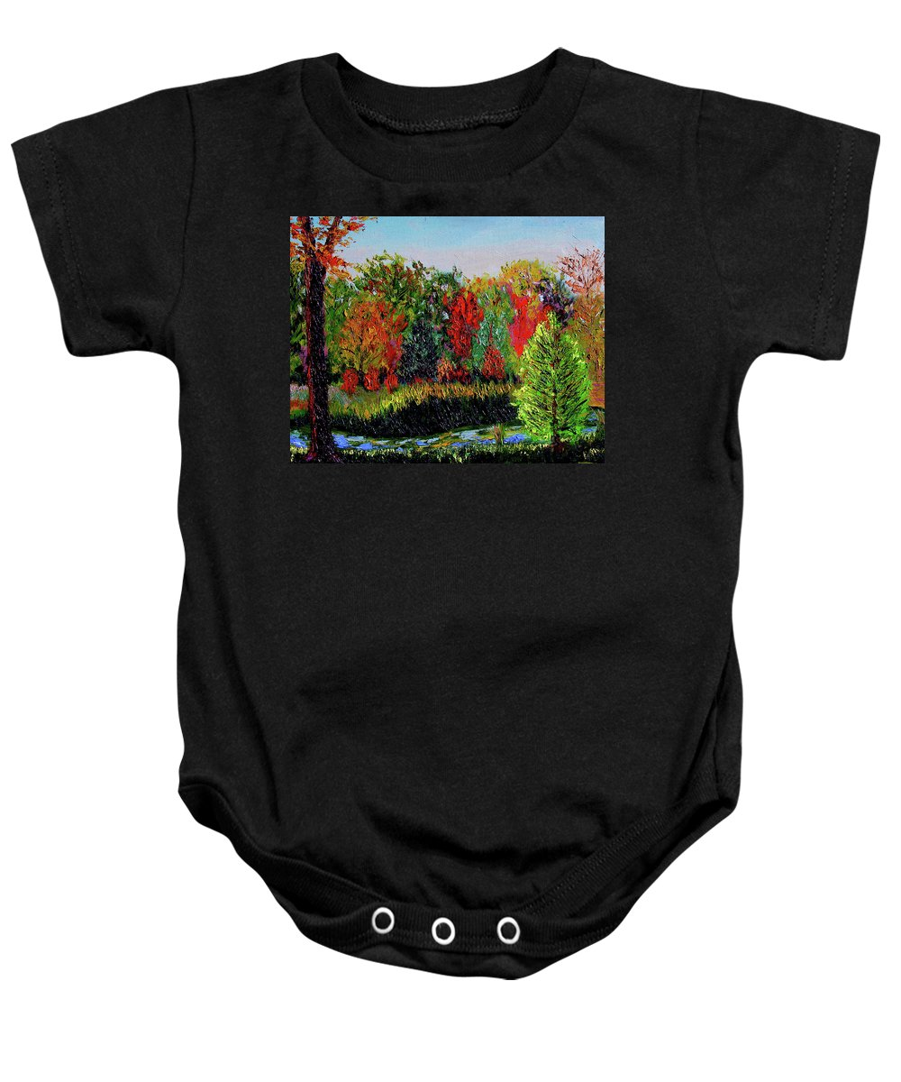 Plein Air Baby Onesie featuring the painting Sewp 10 10 by Stan Hamilton