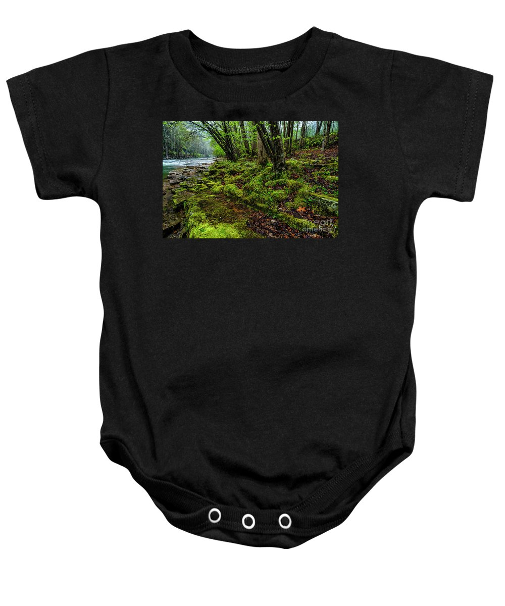 Elk River Baby Onesie featuring the photograph Spring Along Elk River by Thomas R Fletcher