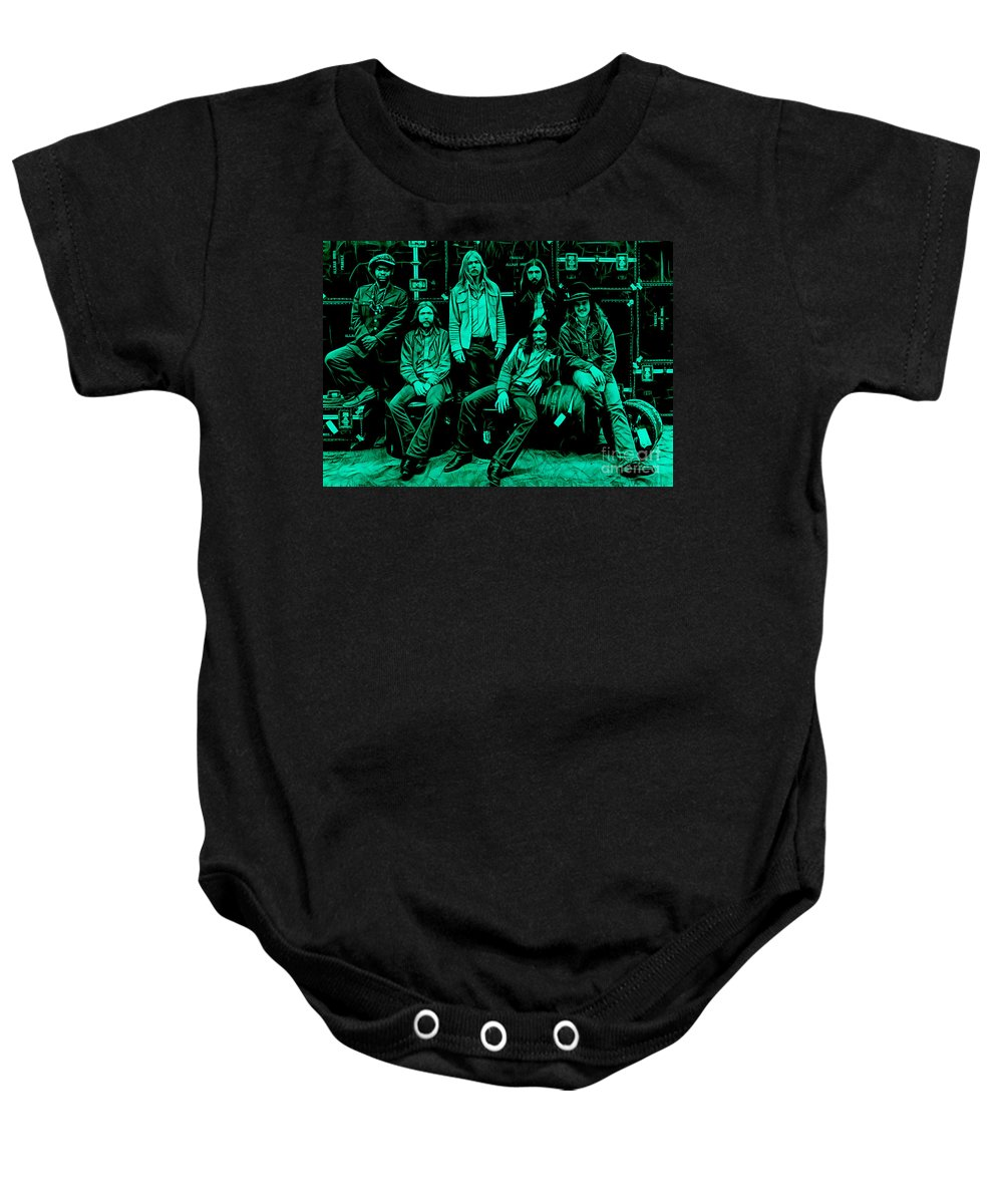 The Allman Brothers Baby Onesie featuring the mixed media The Allman Brothers Collection by Marvin Blaine