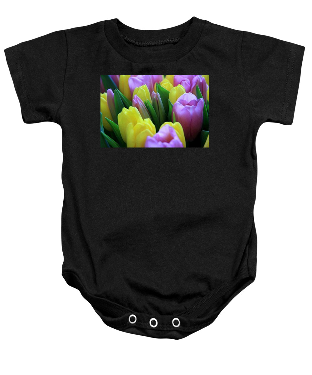 Tulips Baby Onesie featuring the photograph Tulips by Lali Kacharava