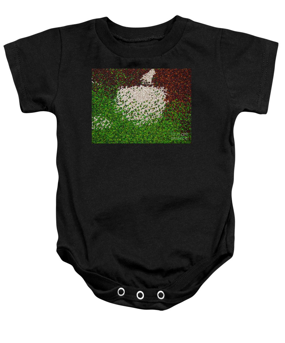 Abstract Baby Onesie featuring the painting Untitled by Dean Triolo