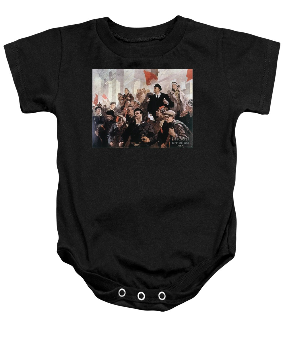 1917 Baby Onesie featuring the photograph Vladimir Lenin (1870-1924) by Granger