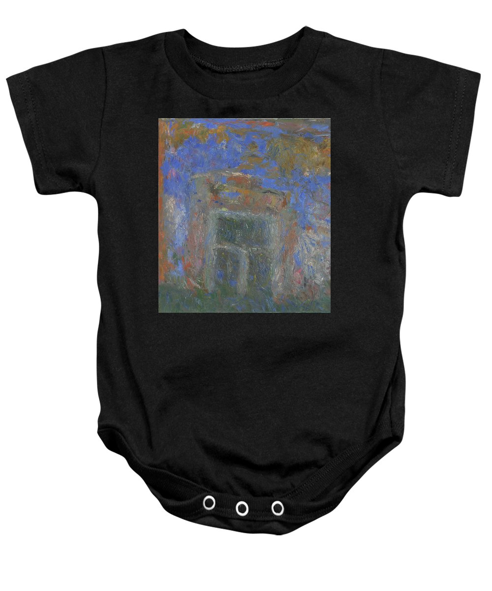 Wall Baby Onesie featuring the painting Wall by Robert Nizamov