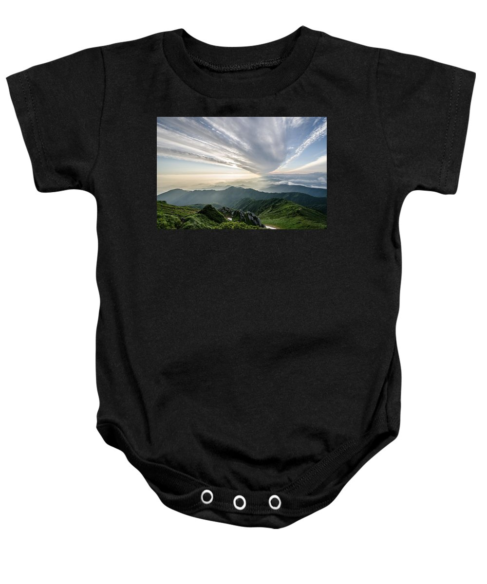 Mount Baby Onesie featuring the photograph Mountains by FL collection