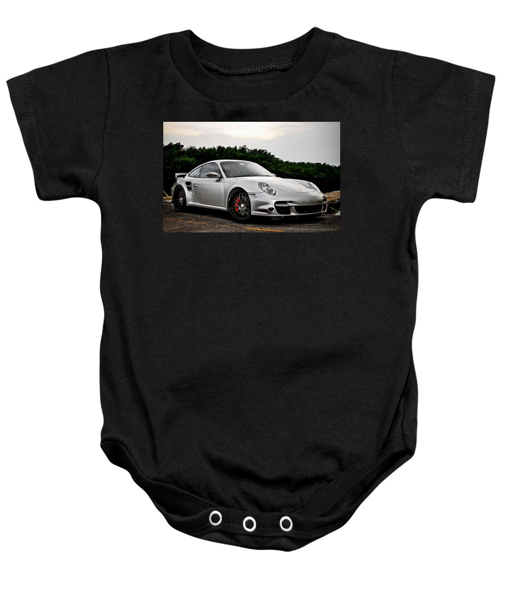 Baby Onesie featuring the digital art 360 Forged Porsche 997tt 2 by Alice Kent