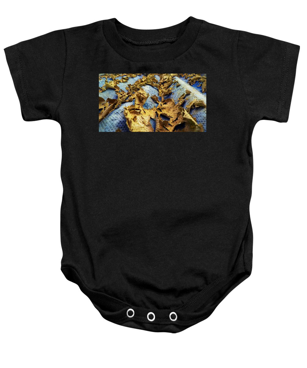 Abstract Baby Onesie featuring the photograph 377 At 41 Series 2 by Skip Hunt