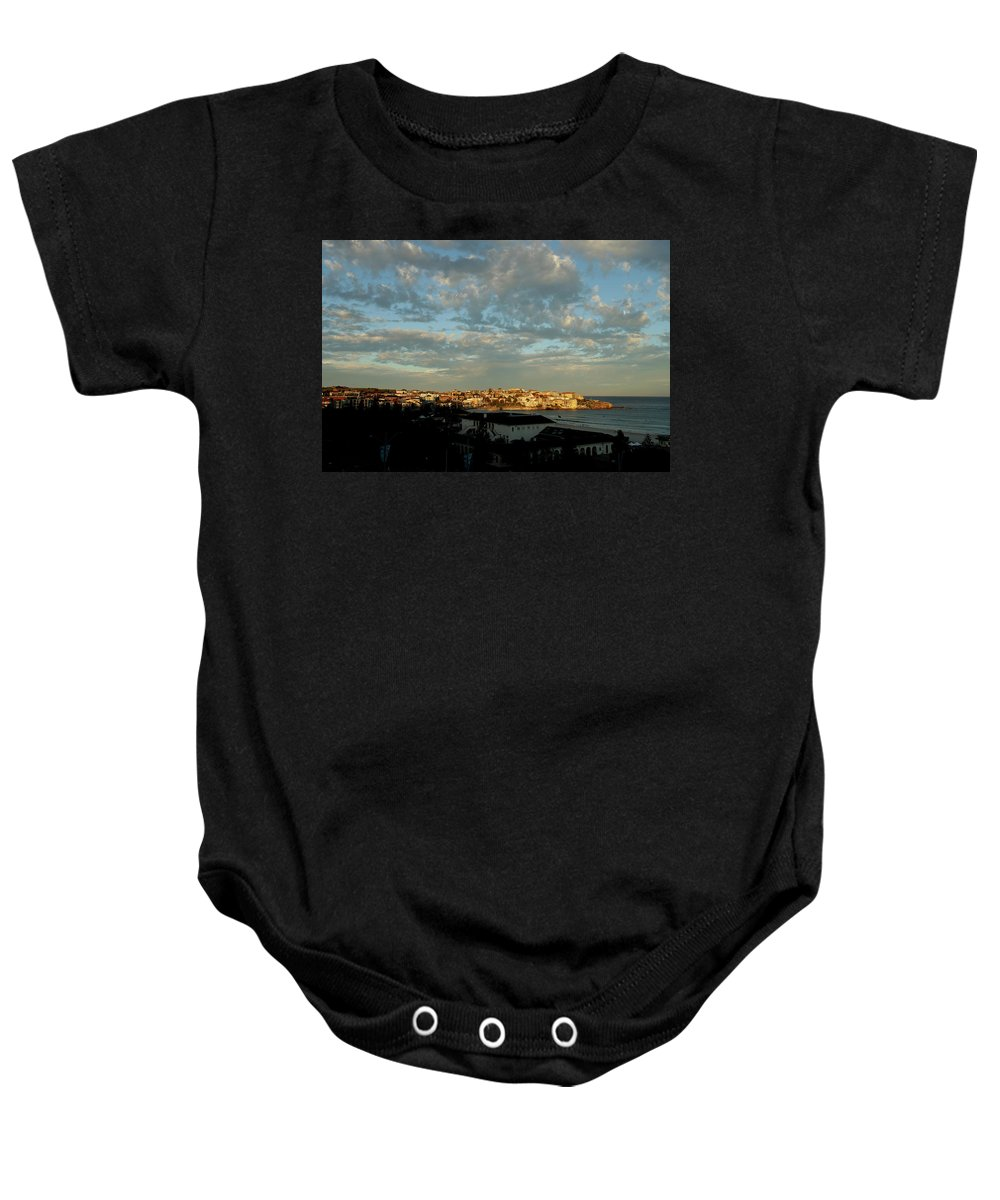 Baby Onesie featuring the photograph Bondi Beach by Chris Lane
