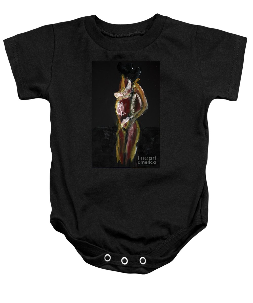 Fat Baby Onesie featuring the photograph Fat Nude Woman by Vladi Alon