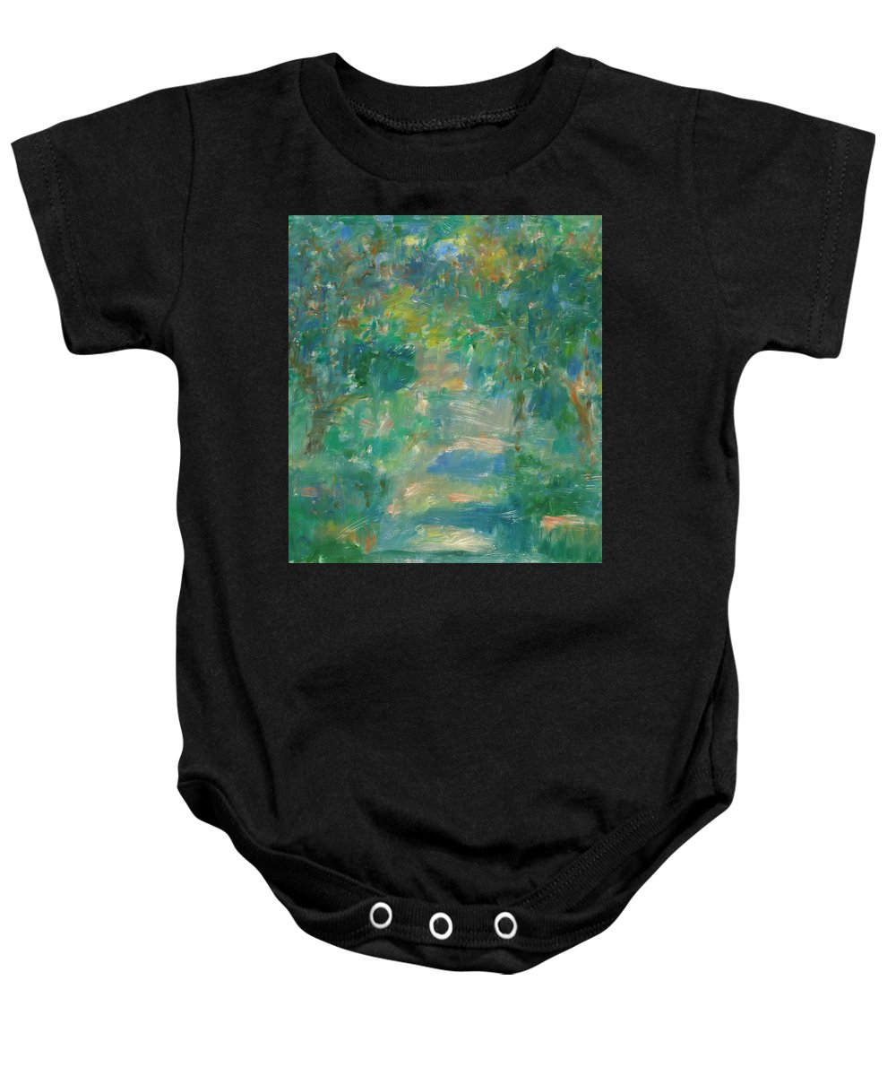 Park Baby Onesie featuring the painting Garden by Robert Nizamov