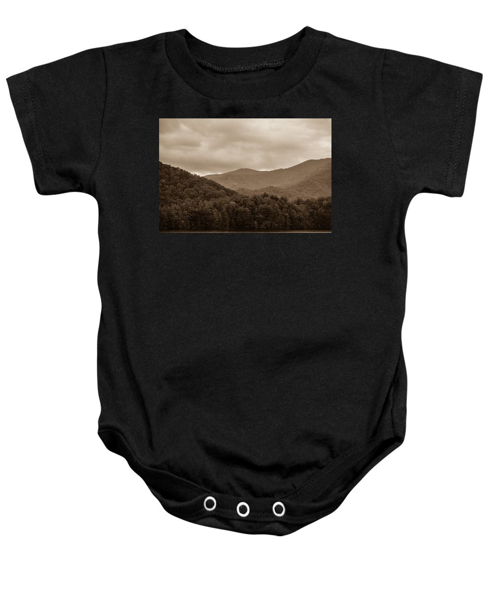Nature Baby Onesie featuring the photograph Nature Landscapes Around Lake Santeetlah North Carolina by Alex Grichenko