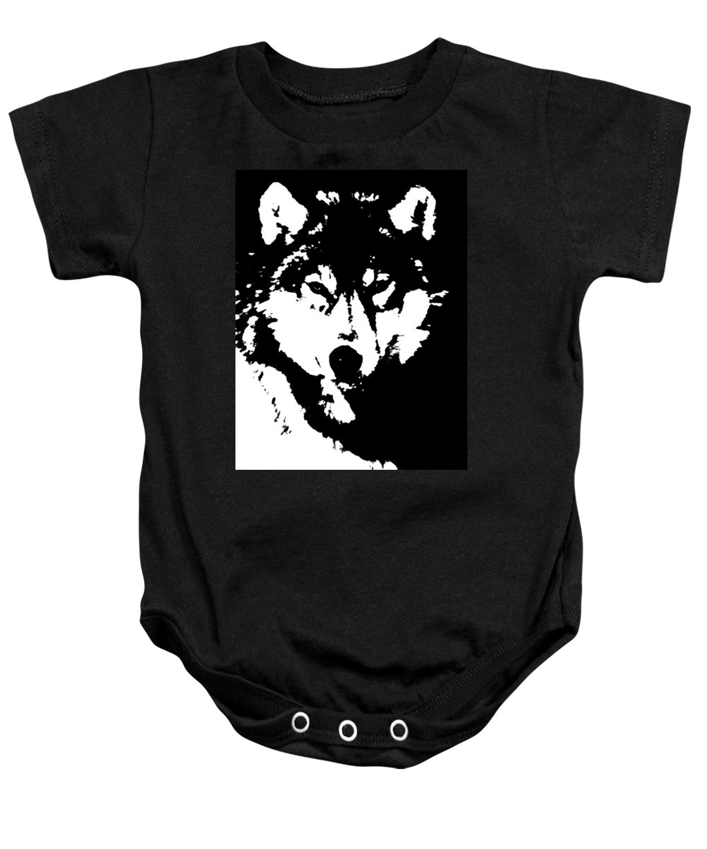 20th Century Baby Onesie featuring the photograph Timber Wolf by Granger