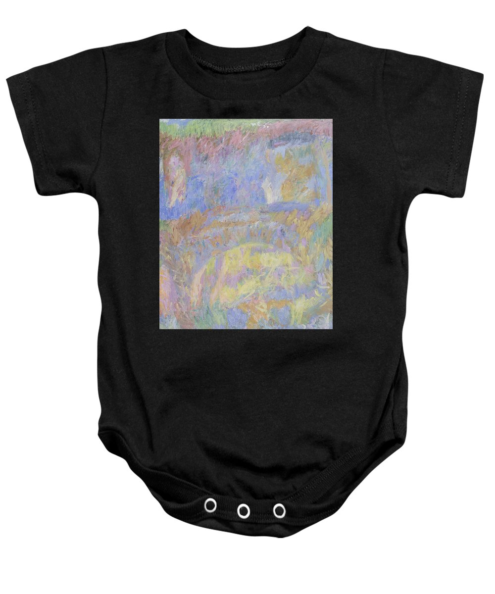Summer Baby Onesie featuring the painting Wall by Robert Nizamov