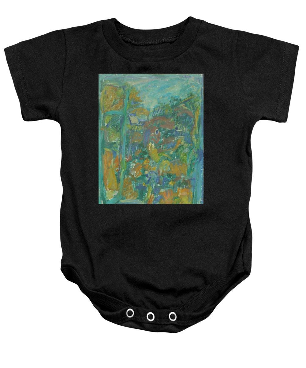 Park Baby Onesie featuring the painting Window by Robert Nizamov