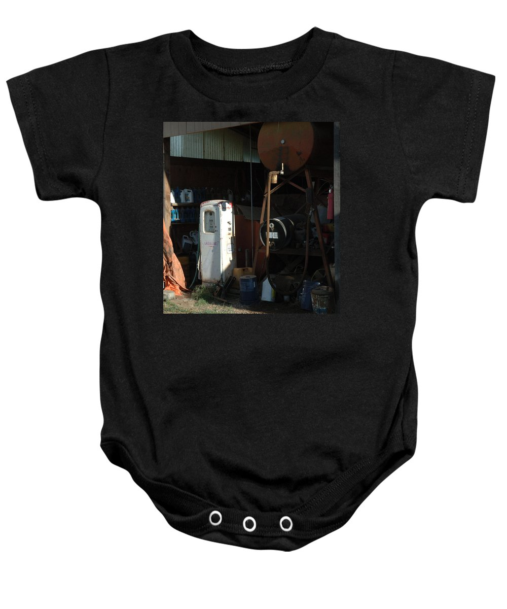 Gas Baby Onesie featuring the photograph 48 Cents Per Gallon by Jerry McElroy