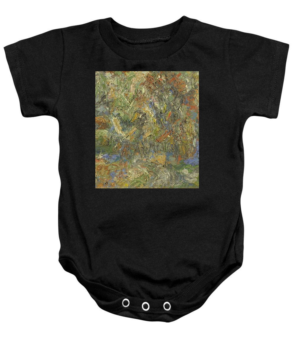 Impasto Painting Baby Onesie featuring the painting Landscape by Robert Nizamov