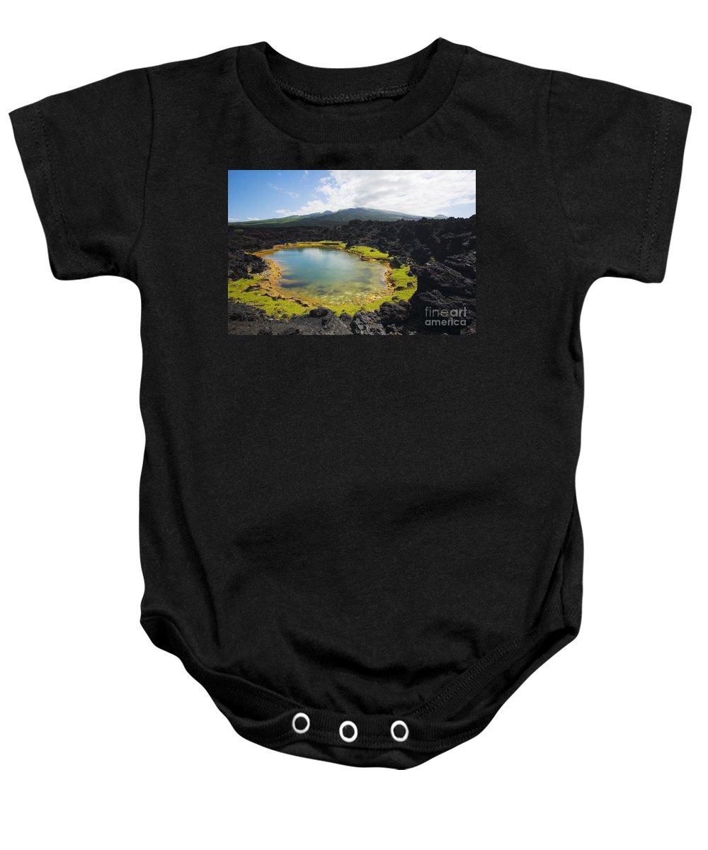 Ahihi Kinau Baby Onesie featuring the photograph Ahihi Kinau Natural Reserve by Ron Dahlquist - Printscapes