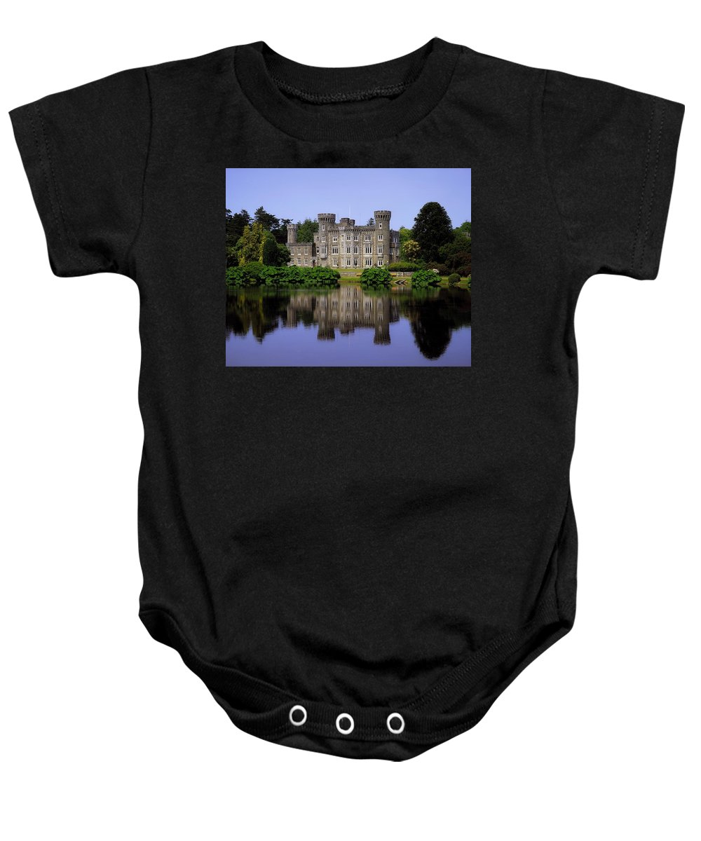 Archaeology Baby Onesie featuring the photograph Johnstown Castle, Co Wexford, Ireland by The Irish Image Collection